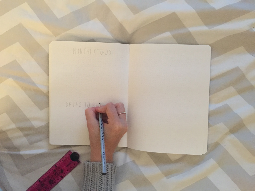 November Setup 6 Setting up my Second Spread | November 2015