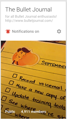 Google+ Bullet Journal Group | October 2015