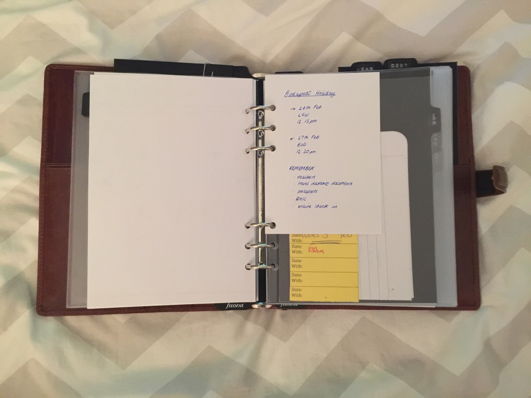 Filofax Feb Monthly